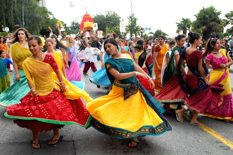 Dancers take part in the 41st annual Chariots Fest of India parade and celebrations in Vancouver, Canada, Aug.10, 2014. The functional purpose of Chariots Fest of