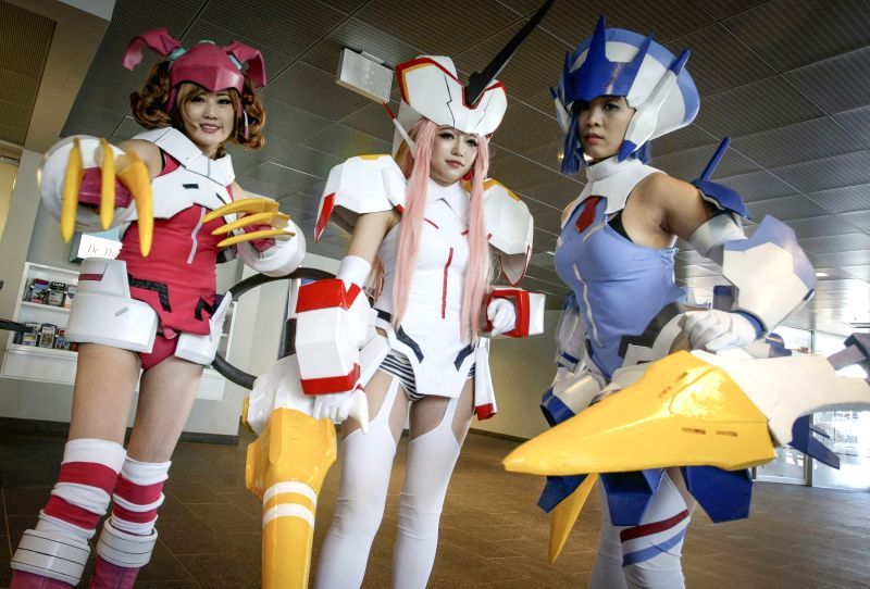 VANCOUVER, Aug. 5, 2018 - Cosplayers pose for photo during the annual Anime Revolution in Vancouver, Canada, Aug. 4, 2018. Anime Revolution is a three-day annual anime convention in west Canada that ...