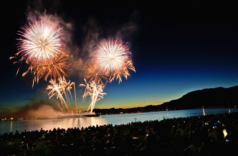 VANCOUVER (CANADA), July 30, 2015 Team Brazil displays its fireworks show during the 25th Celebration of Light at English Bay in Vancouver, Canada, July 29, 2015. The annual Celebration ...