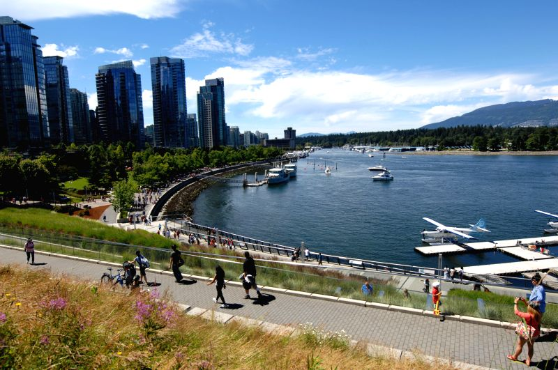 Photo taekn on July 4, 2014 shows the view of Coal Harbour area in Vancouver, Canada. Vancouver is officially Canada's top travel destination, according to the ...