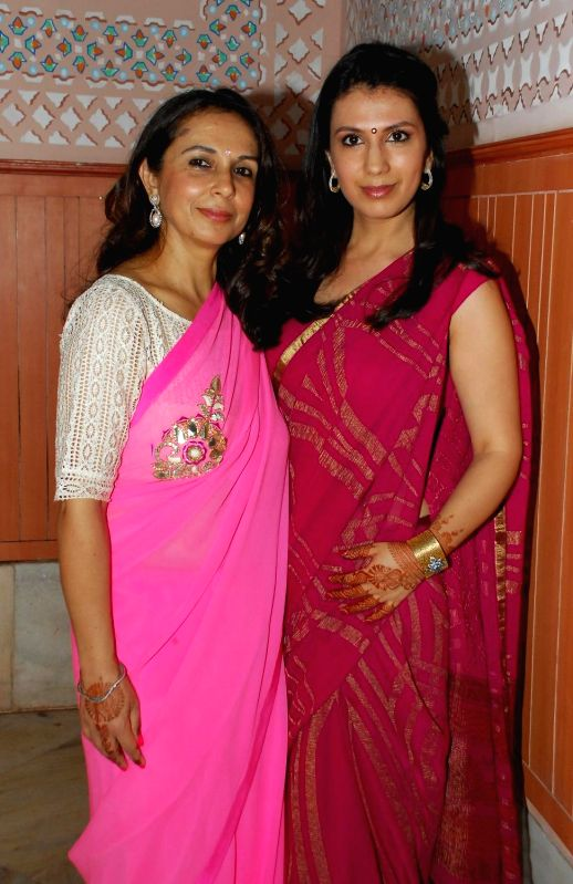 Vandana Somaiya with her daughter during the album launch of Bhakti Vandana in Mumbai, on August 12, 2014.