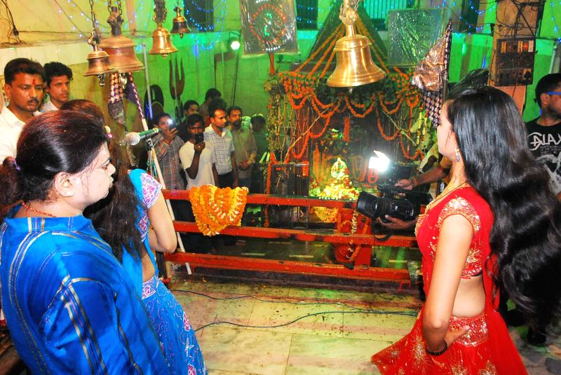 Sex workers worship of Mahashamshan baba at Manikarnika Ghat in Varanasi, on March 27, 2015.