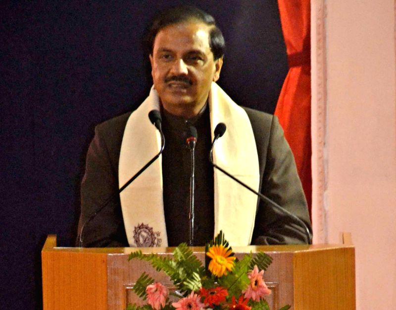 The Minister of State for Culture (Independent Charge), Tourism (Independent Charge) and Civil Aviation, Dr. Mahesh Sharma addresses at the launch of Varanasi Mahotsav, in Varanasi, Uttar .. - Mahesh Sharma