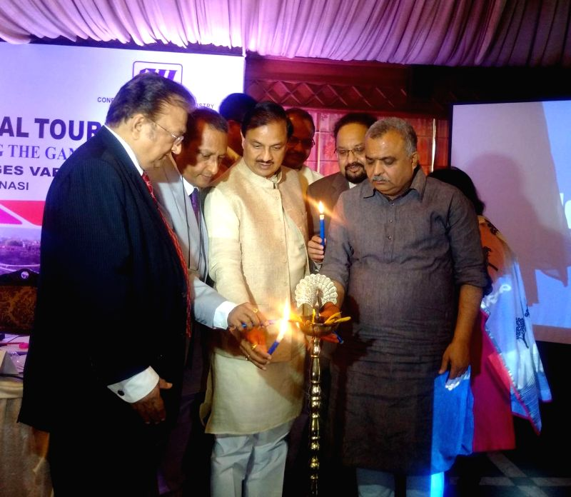 The Union Minister of State for Culture (Independent Charge), Tourism (Independent Charge) and Civil Aviation, Dr. Mahesh Sharma during inauguration of a seminar on Pilgrimage and Spiritual ...