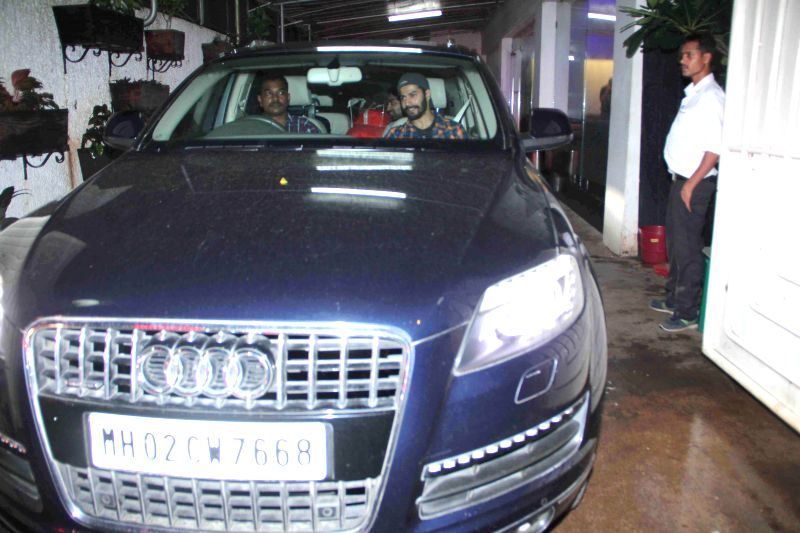 Varun Dhawan snapped in his Audi Q7 car at Hercules 3D screening with brother director Rohit Dhawan snapped in his Audi A4 car at Sunny Super Sound Preview Theater in Mumbai on July 30th, 2014.