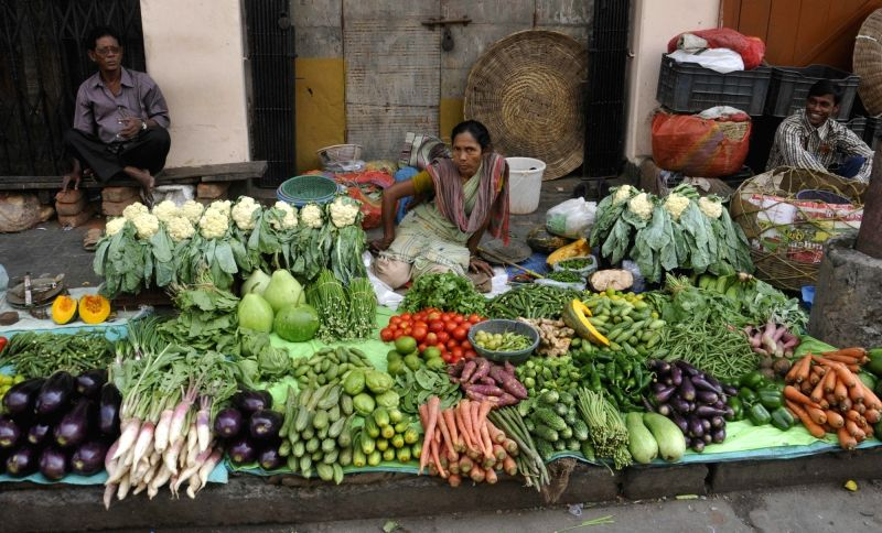 Vegetable market. (File Photo: IANS)