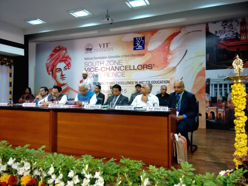 Union Minister for Health and Family Welfare, Jagat Prakash Nadda during the inauguratation of the South Zone Vice-Chancellors` conference at Vellore Institute of Technology, in Vellore, ...