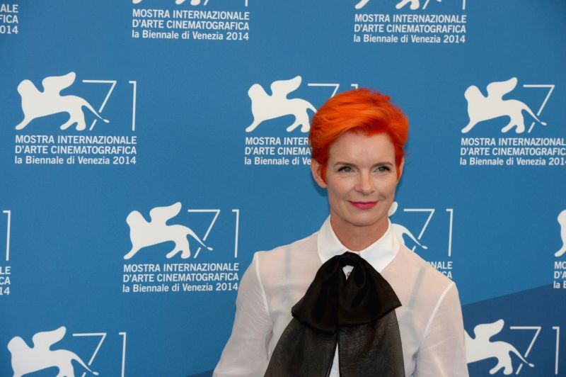 Member of the international jury of Main Competition Sandy Powell poses during a photo call for the 71st Venice Film Festival Aug. 27, 2014.