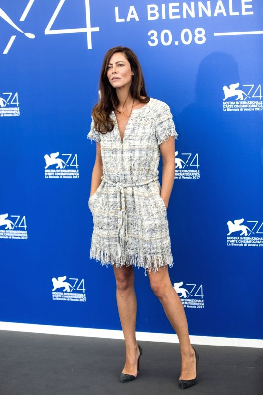 VENICE, Aug. 30, 2017 - Jury member of the 74th edition of the Venice Film Festival Anna Mouglalis poses at the Jury photocall during the 74th Venice Film Festival in Venice, Italy, on Aug. 30, 2017. ...