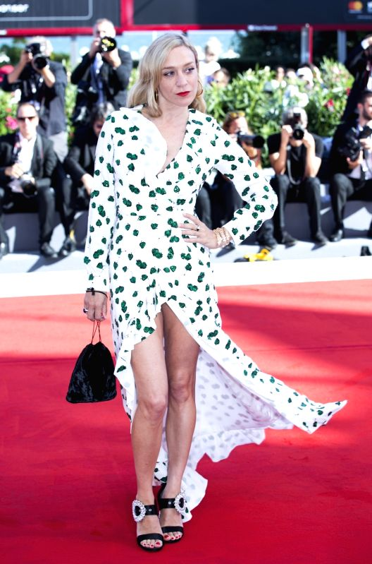 """VENICE, Sept. 2, 2017 - Actress Chloe Sevigny arrives for the premiere of the movie """"Lean on Pete"""" at the 74th Venice Film Festival in Venice, Italy, on Sept. 1, 2017. - Chloe Sevigny"""