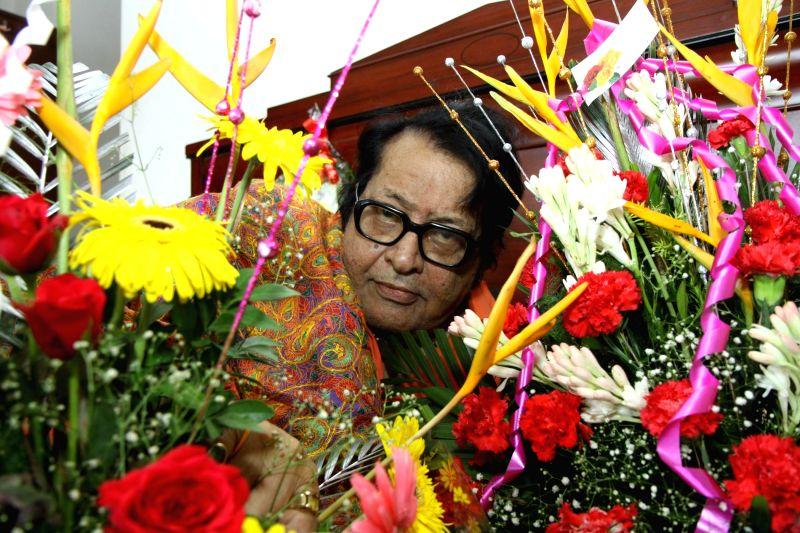 Veteran actor-filmmaker Manoj Kumar snapped on his 77th birthday at his residence in Mumbai on Thursday, July 24, 2014.
