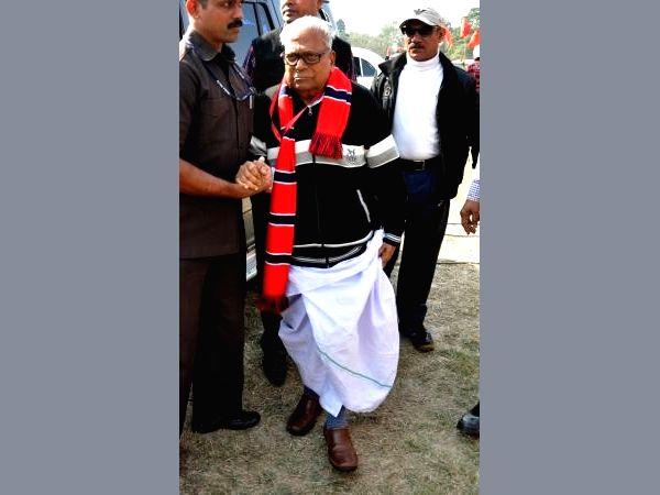 Veteran CPI-M leader Achuthanandan.