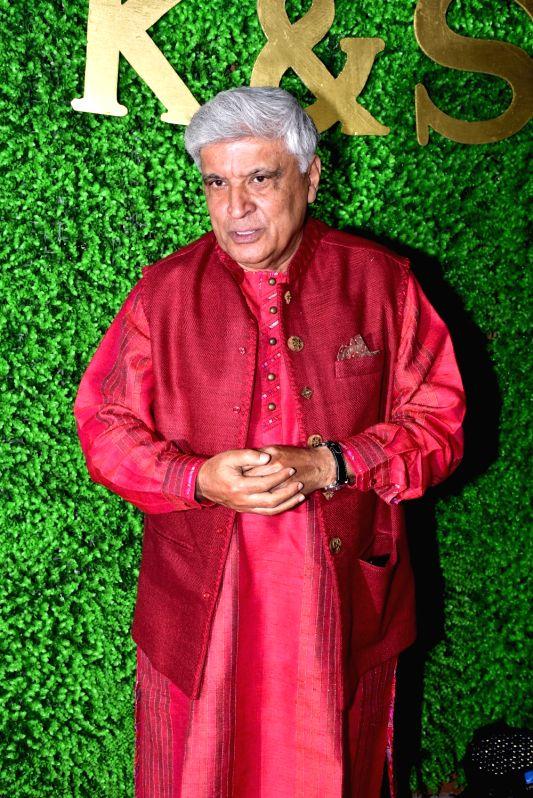 Veteran lyricist-screenwriter Javed Akhtar at the wedding reception of lyricist Sameer Anjaan's daughter Suchita in Mumbai, on Jan 22, 2019.