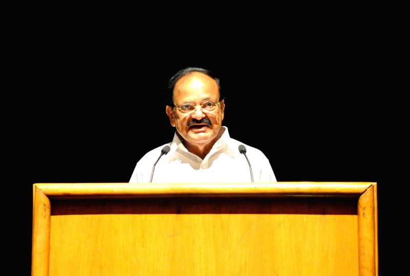 "Vice President M. Venkaiah Naidu addresses after watching the short film ""Chalo Jeete Hain"" based on childhood incidents of the Prime Minister Narendra Modi, in New Delhi on July ... - Narendra Modi and M. Venkaiah Naidu"