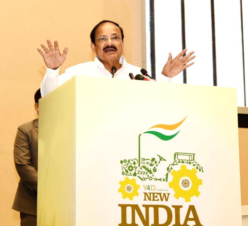 Vice President M. Venkaiah Naidu addresses at New India Conclave organised by Y4D Foundation, in New Delhi on July 16, 2018. - M. Venkaiah Naidu