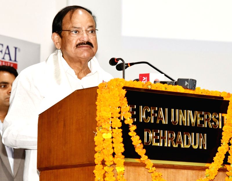 Vice President M. Venkaiah Naidu addresses at the Convocation of ICFAI University, in Dehradun on July 14, 2018. - M. Venkaiah Naidu