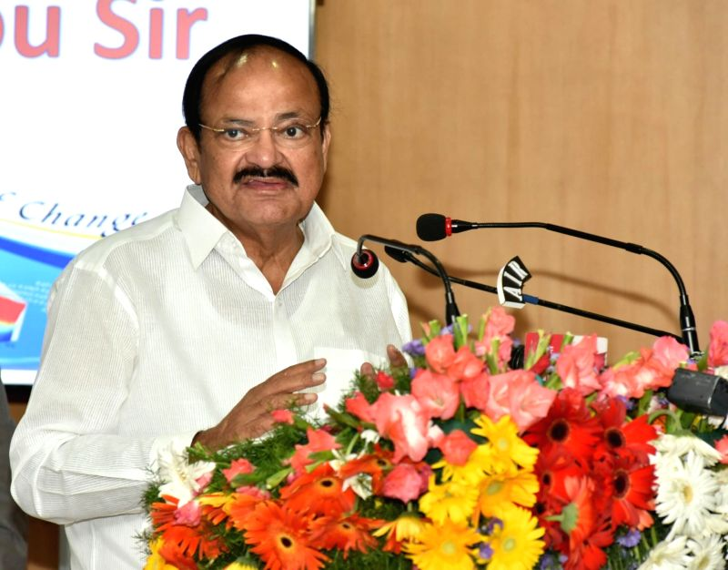 Vice President M Venkaiah Naidu addresses the Scientists of the Indian National Centre for Ocean Information Services (INCOIS) and the National Tsunami Warning Centre in Hyderabad on July ... - M Venkaiah Naidu
