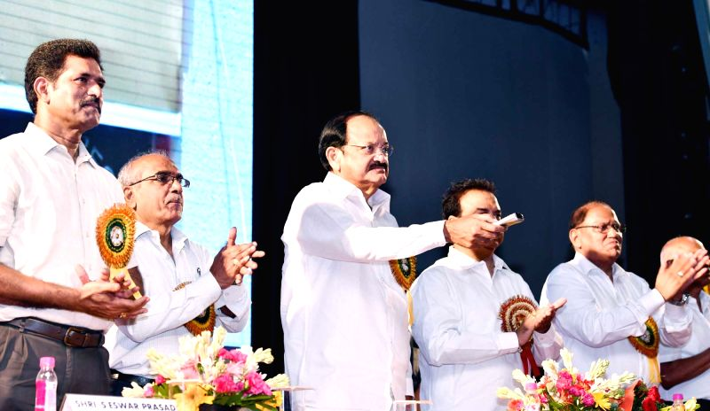 Vice President M. Venkaiah Naidu inaugurates the new school building at Andhra Educational Society School of R.K. Puram at the Founder's Day celebrations of Andhra Education Society, in ... - M. Venkaiah Naidu
