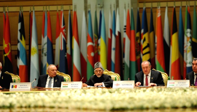 Vice President Mohd. Hamid Ansari addresses at the International Neutrality Conference, in Ashgabat, Turkmenistan on Dec 12, 2015.
