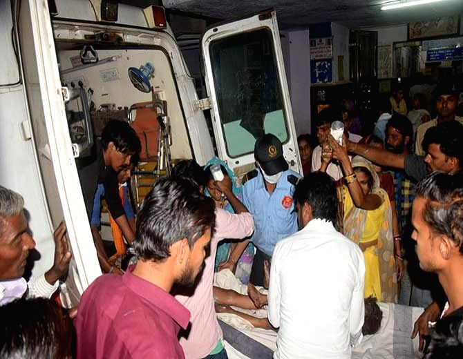 Vidisha (Madhya Pradesh): One of the victims of a fire incident in which at least 23 persons, including women and children, were badly burnt as a fire engulfed a marriage venue being wheeled into a ...