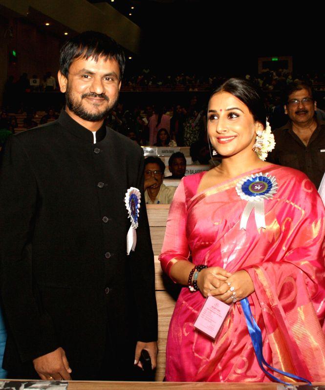 National Film Awards - Vidya Balan and Girish Kulkarni