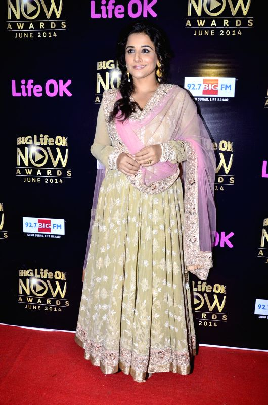 Vidya Balan At 'Big Life OK Now Awards' 2014 in Mumbai on June 22, 2014. - Vidya Balan