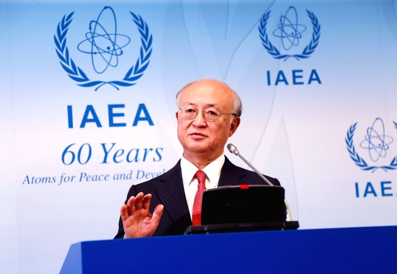 VIENNA, June 13, 2017 - Yukiya Amano, Director General of the International Atomic Energy Agency (IAEA), speaks on the board meeting of IAEA in Vienna, Austria, June 12, 2017. The International ...