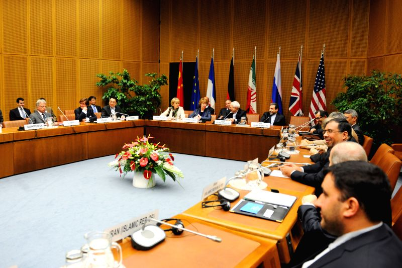 Representatives attend the meeting of nuclear talks in Vienna, Austria, June 17, 2014. Iran and six major states on Monday resumed a new round of nuclear talks in ...