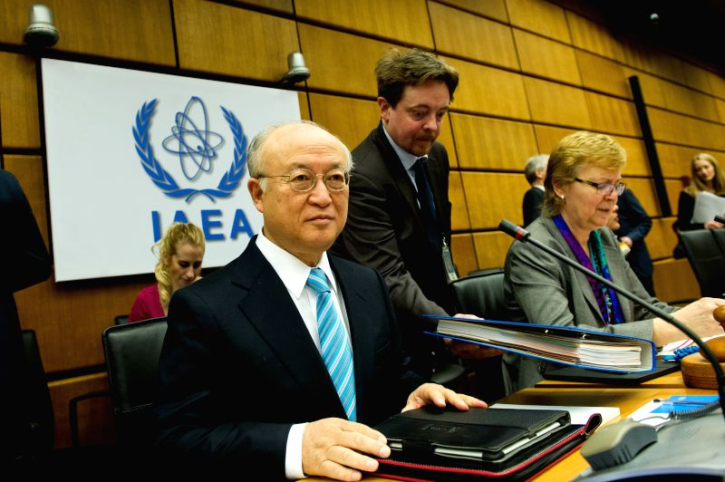 Director-General of the International Atomic Energy Agency (IAEA) Yukiya Amano attends the Board of Governors Meeting of IAEA in Vienna, Austria, March. 2, 2015. ...