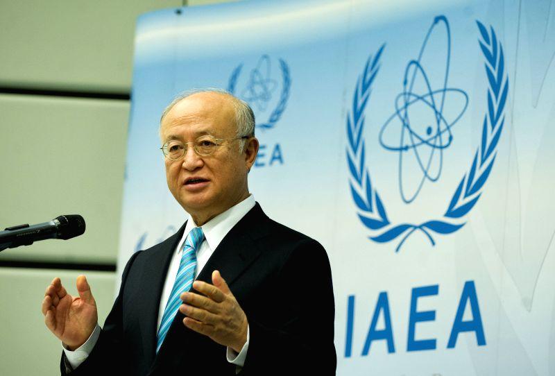 International Atomic Energy Agency(IAEA) chief Yukiya Amano attends a press conference in Vienna, Austria, on March 2, 2015. The International Atomic Energy Agency ...