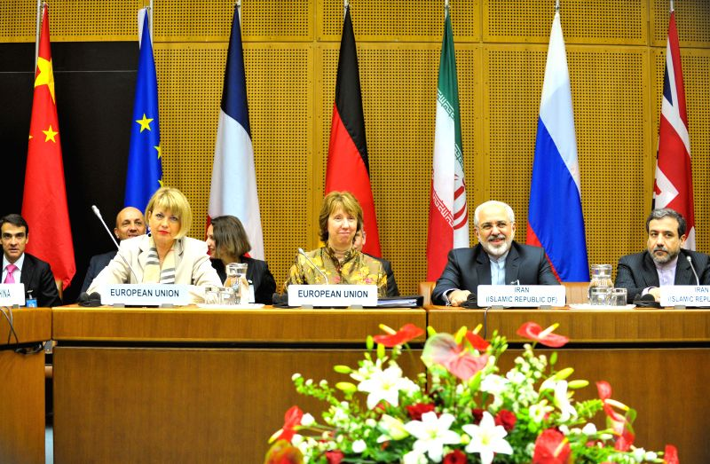 Delegates attend a session of the 4th round discussion on Iran's nuclear program in Vienna, Austria, May 14, 2014. The 4th round of nuclear talks between Iran and ...