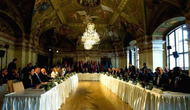 VIENNA, May 16, 2016 - Representatives attend a conference on the issue of the Islamic State (IS) in Libya, in Vienna, capital of Austria, on May 16, 2016. Leading foreign ministers from Europe and ...