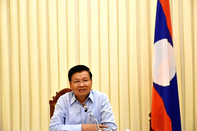 VIENTIANE, July 25, 2018 - Lao Prime Minister Thongloun Sisoulith speaks during a press conference in Vientiane, Laos, on July 25, 2018. The prime minister said Wednesday that some 131 people were ... - Thongloun Sisoulith