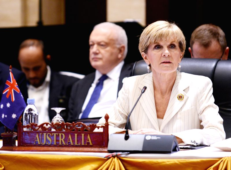 VIENTIANE, July 26, 2016 - Australian Foreign Minister Julie Bishop attends the 6th East Asia Summit Foreign Ministers' Meeting in Vientiane, capital of Laos, July 26, 2016. - Julie Bishop