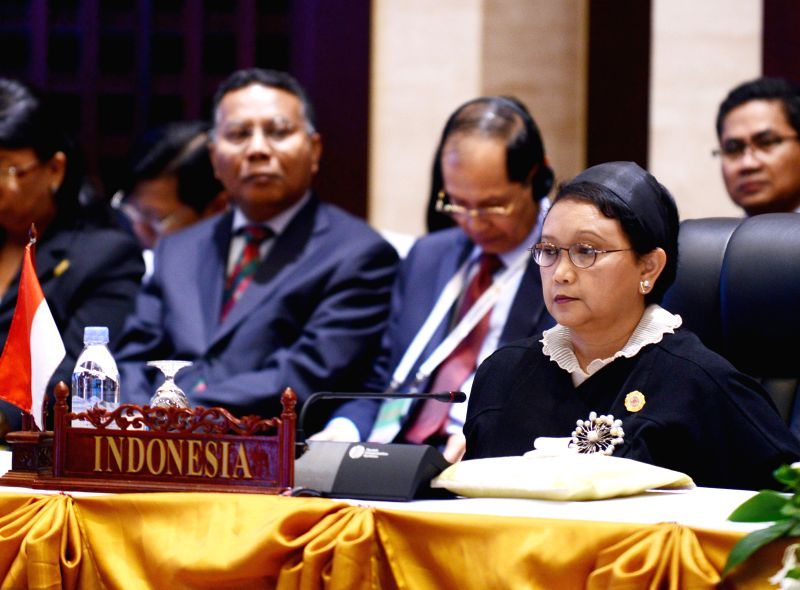 VIENTIANE, July 26, 2016 - Indonesian Foreign Minister Retno Marsudi attends the 6th East Asia Summit Foreign Ministers' Meeting in Vientiane, capital of Laos, July 26, 2016. - Retno Marsudi