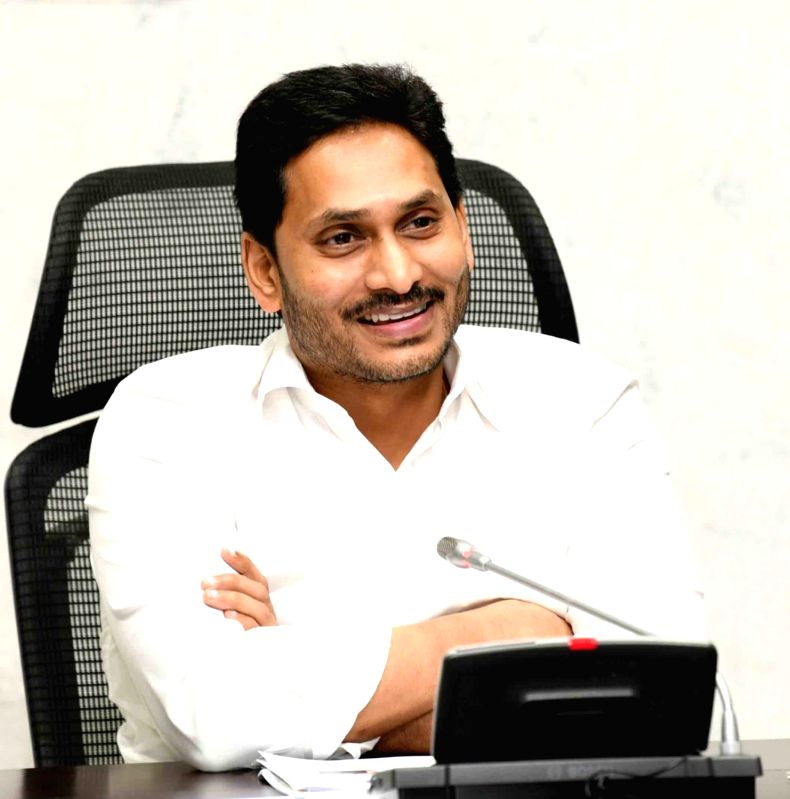 Vijayawada: Andhra Pradesh Chief Minister YS Jagan Mohan Reddy chairs a meeting to review the procurement of agricultural products for the Kharif season this year, in Vijayawada on Sep 25, 2020.