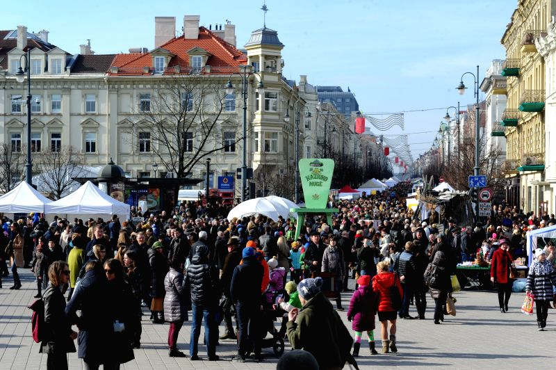 People visit the Kaziukas Fair in Vilnius, Lithuania, on March 8, 2015. A three-day celebration for the 400-year-old Kaziukas Fair wrapped up here on Sunday. The ...