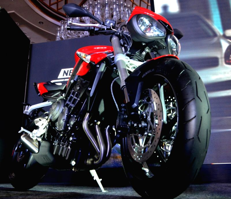 Vimal Sumbly, Managing Director at Triumph Motorcycles (India) Private Limited during the launch of 2017 Street Triple motorcycle in New Delhi on June 12, 2017.
