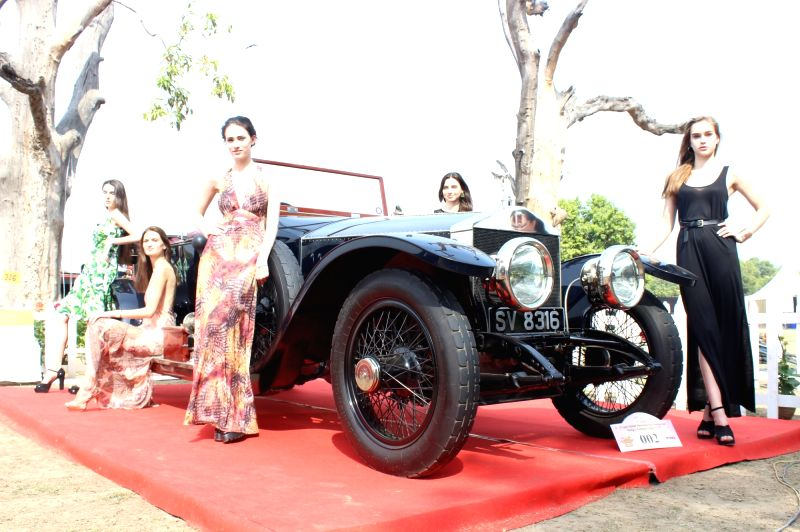 Vintage cars on display at 21 Gun Salute International Vintage Car Rally & Concours Show 2017 at India Gate in New Delhi on Feb. 18, 2017.