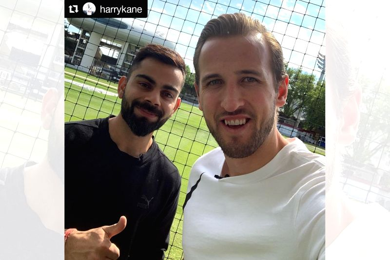 Virat Kohli and Harry Kane sent sports fans into a frenzy when they posted a selfie together at the Lord's Cricket Ground on Friday. Kohli is currently in England as Team India gears up for the 2019 World Cup. (Photo: Twitter/@imVkohli)