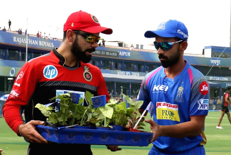 Virat Kohli and his deputy Ajinkya Rahane. (Photo: Surjeet Yadav/IANS)