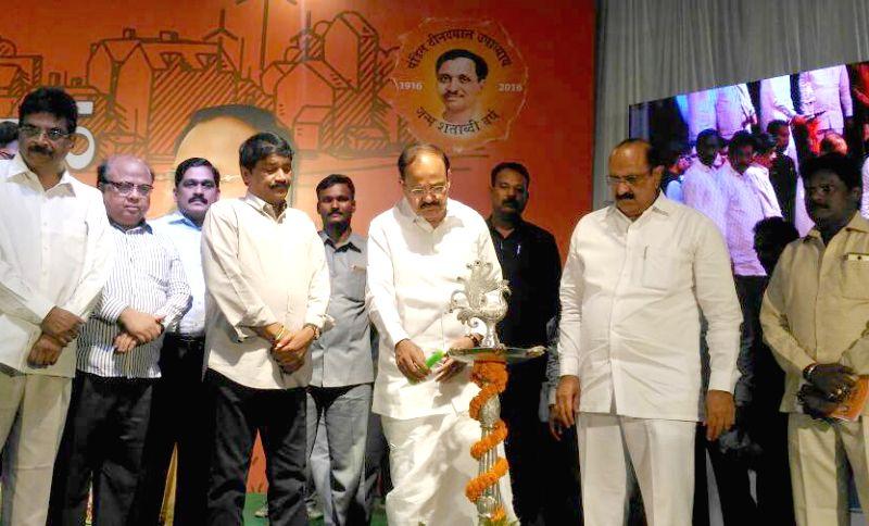 """Visakhapatnam (Andhra Pradesh): Union Urban Development Minister M. Venkaiah Naidu inaugurates """"Sabka Saath Sabka Vikas"""" Sammelan in Visakhapatnam, Andhra Pradesh on June 11, 2017. - M. Venkaiah Naidu"""