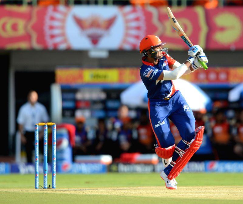 Delhi Daredevils player Shreyas Iyer in action during an IPL-2015 match between Sunrisers Hyderabad and Delhi Daredevils at  Dr. Y.S. Rajasekhara Reddy ACA-VDCA Cricket Stadium, in ...
