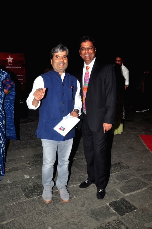 Vishal Bharadwaj and Irfan Izhar during Jio MAMI 17th Mumbai Film Festival Opening Ceremony in Mumbai on Oct 30, 2015.