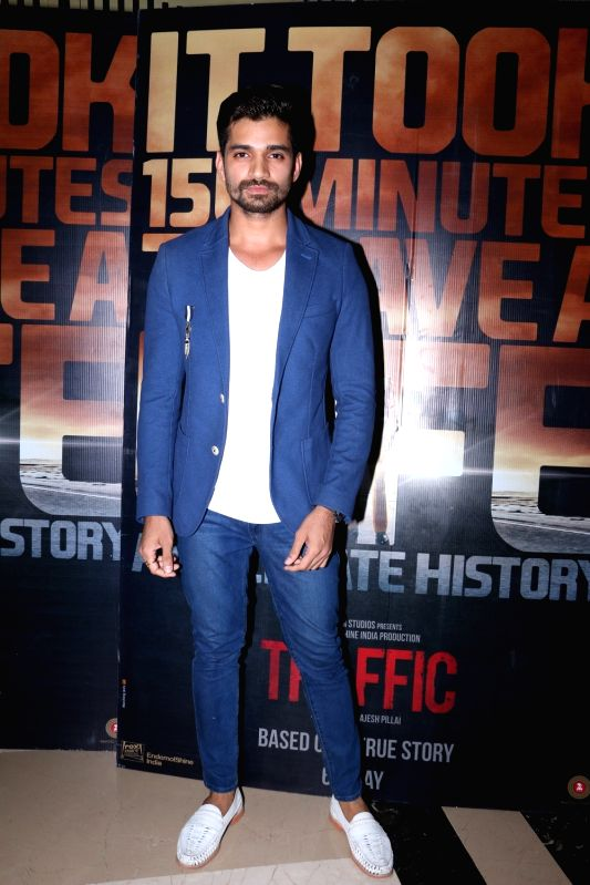 Vishal Singh during the screening of film Traffic in Mumbai on May 5, 2016. - Vishal Singh