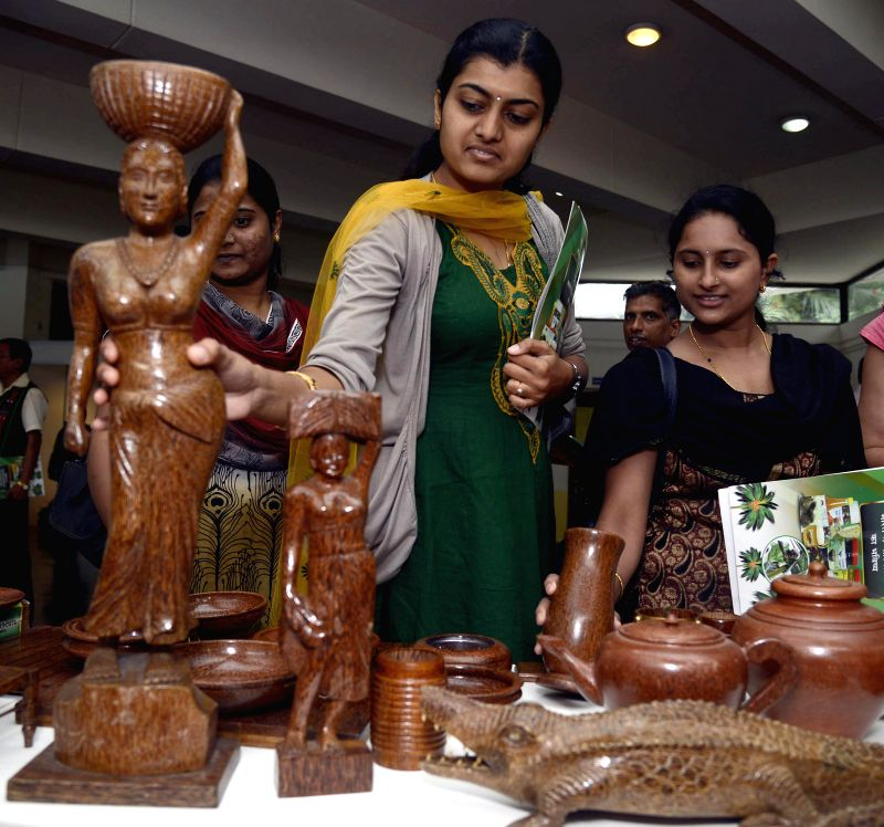 Visitors at an exhibition organised on World Coconut Day by Coconut Development Board at JN Tata Auditorium in Bangalore on Sept 2, 2014.