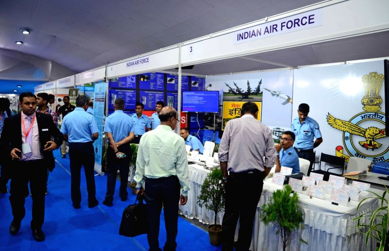 "Visitors at ""Defence Production: Public-Private Partnership – Focus Eastern India"" in Kolkata on Sept 14, 2018."