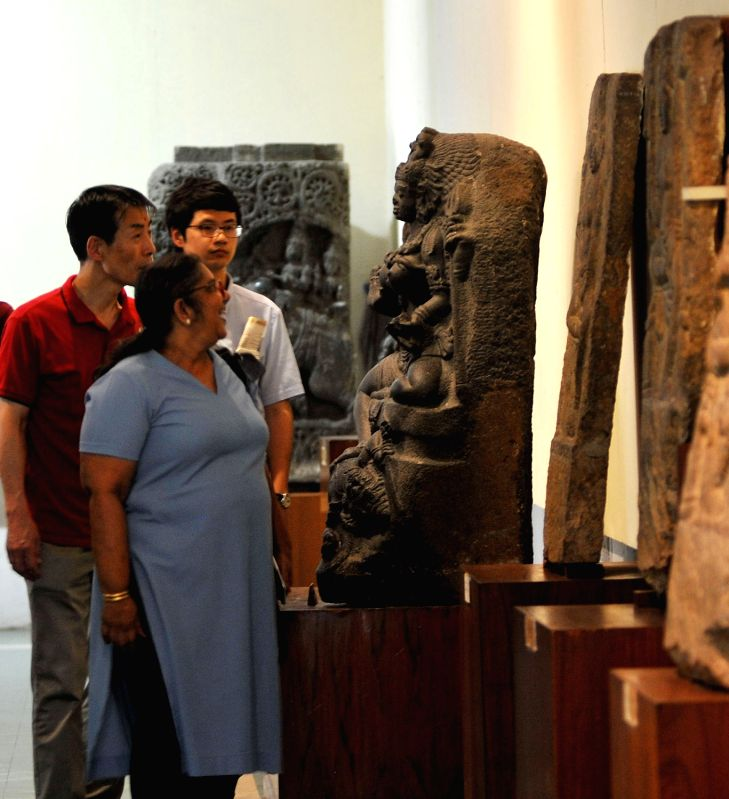 Visitors at Government Museum on International Museum Day in Bengaluru on May 18, 2017.