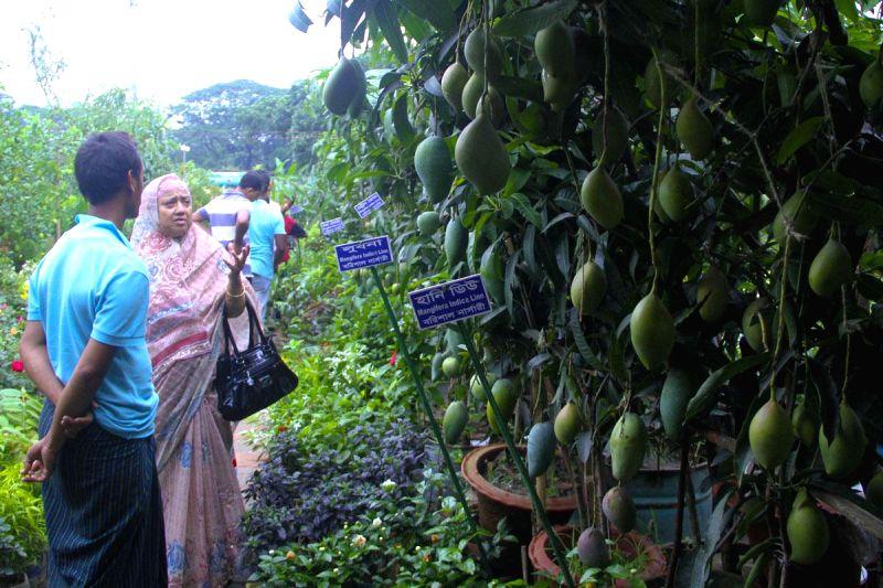 Visitors at the Tree Fair at Sher-e-Bangla Nagar in Dhaka, Bangladesh on June 21, 2014.