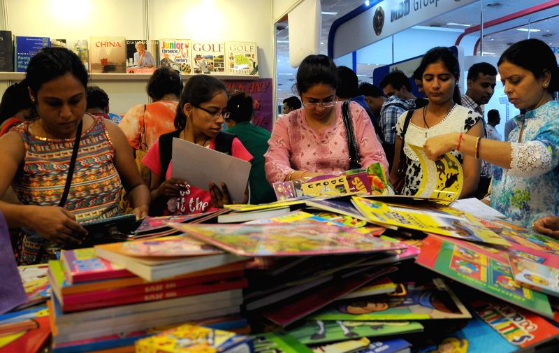 Visitors during 20th Delhi Book Fair-2014 at Pragati Maidan, New Delhi on Aug 24, 2014.